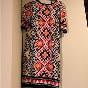 Eliza J pattered dress. Size 4.